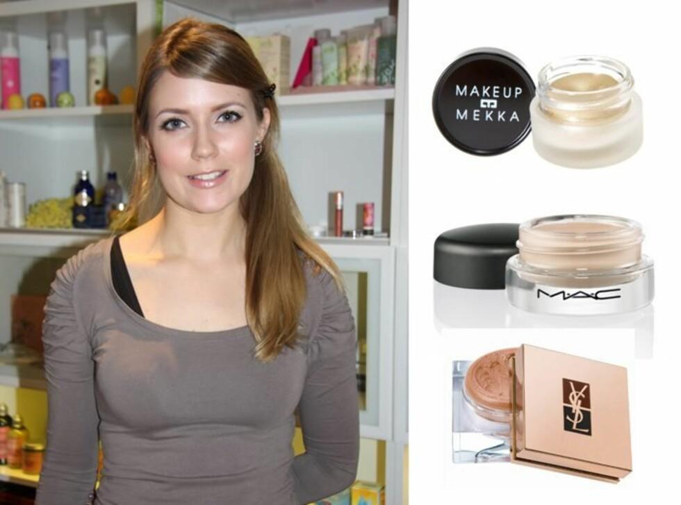 <strong>- MANGE MULIGHETER:</strong> Makeupartist Ingrid Presttun Eide i Makeup Mekka har mange råd om hvordan du bør bruke kremøyeskygger.  Foto: Tone Ra Pedersen og produsentene