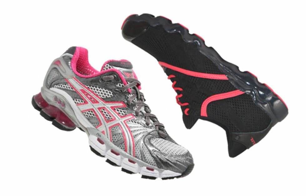 <strong>TO PAR:</strong> Har du flere par treningssko kan du slippe både stinkende og vonde bein - i tillegg varer skoen lenger. Foto: Produsentene