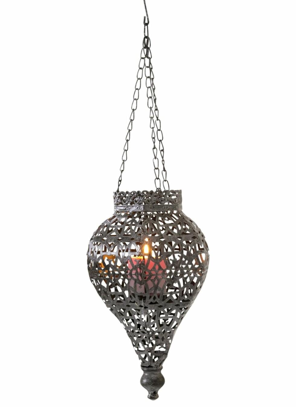 Lyslykt i orientalsk stil, Jotex, kr 139. Foto: Produsenten