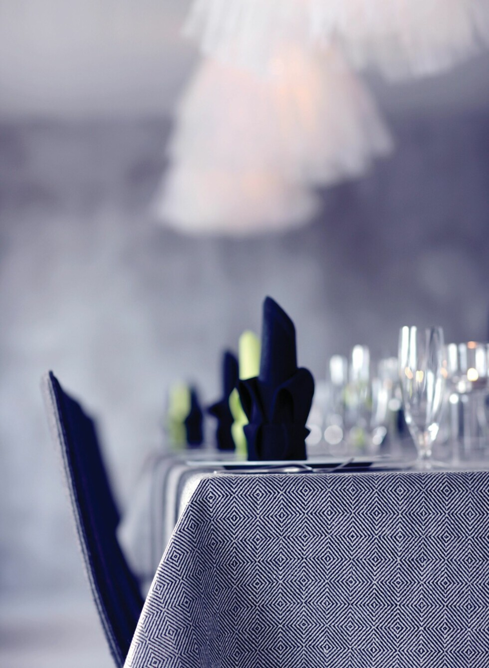 Det er noe veldig elegant med grått, hvitt og mørkeblått sammen.  Foto: Växbo Lin