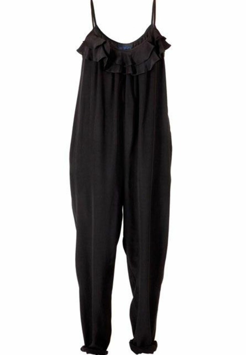 SPAR 1685 KRONER: Funky buksedress i svart silke (kr 1685, PPQ/Fashionmixology.no).