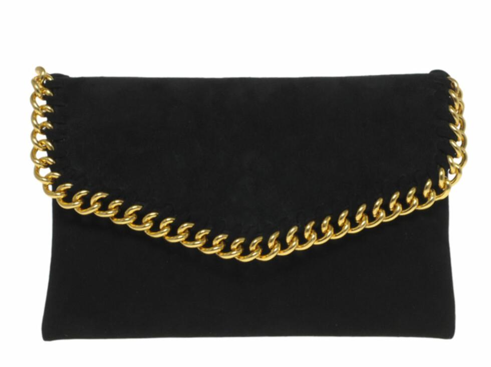 Gullkantet konvoluttveske (ca kr.510/Asos.com). Foto: Produsenten
