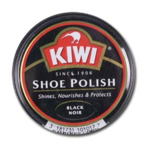 KLASSIKEREN: Kiwi skokrem for svart skinn. Selges blant annet på XXL til 25 kroner. Foto: xxl.no
