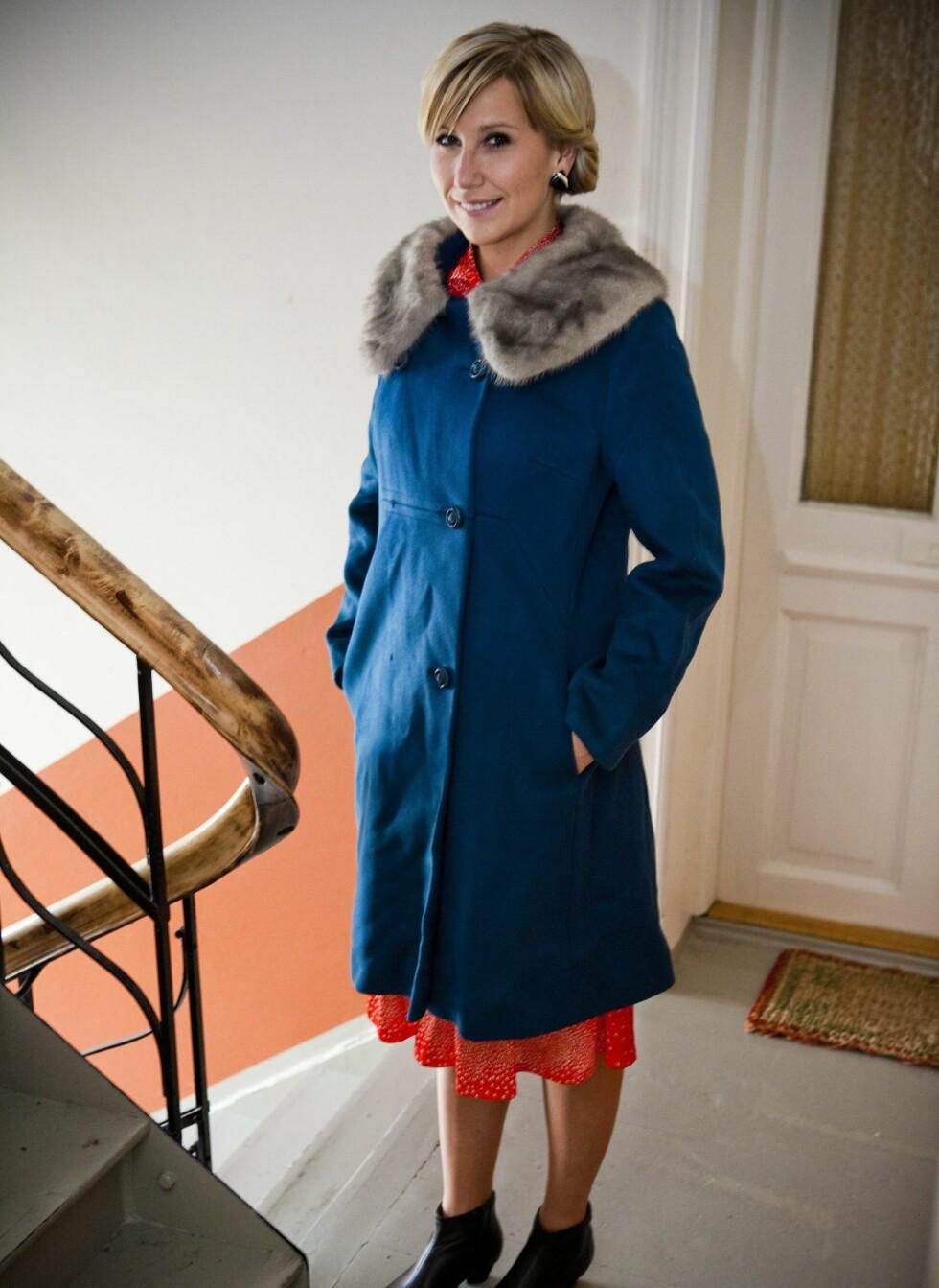 Denne lekre kåpen har Guro arvet av søsteren sin, som fant den på Fretex på Grønland i Oslo. Foto: Per Ervland