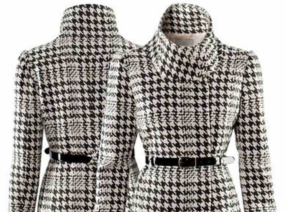 Retroinspirert hundetannsjakke med belte (kr 599, H&M). Jakken er laget i ull og akryl.