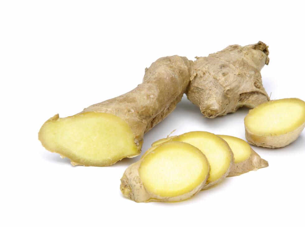Ingefær smaker friskt og rent, og kan brukes både som krydder og som te. Foto: Panther Media