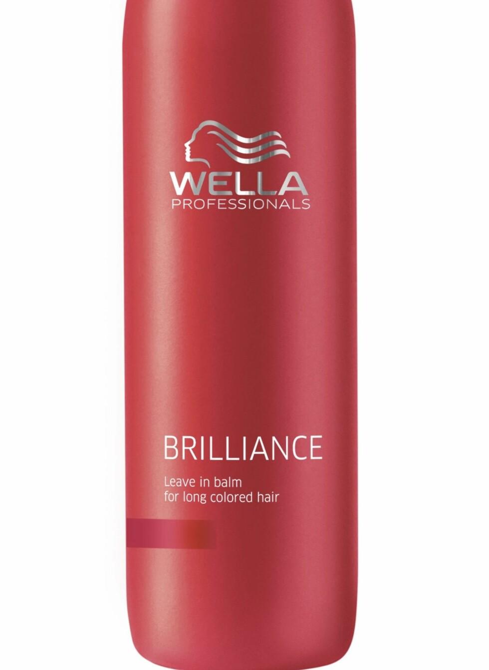 Brilliance leave-in balm gjør langt, farget hår mykt og lett å gre, fra Wella Professionals Care, veil. kr 225. Foto: Produsenten