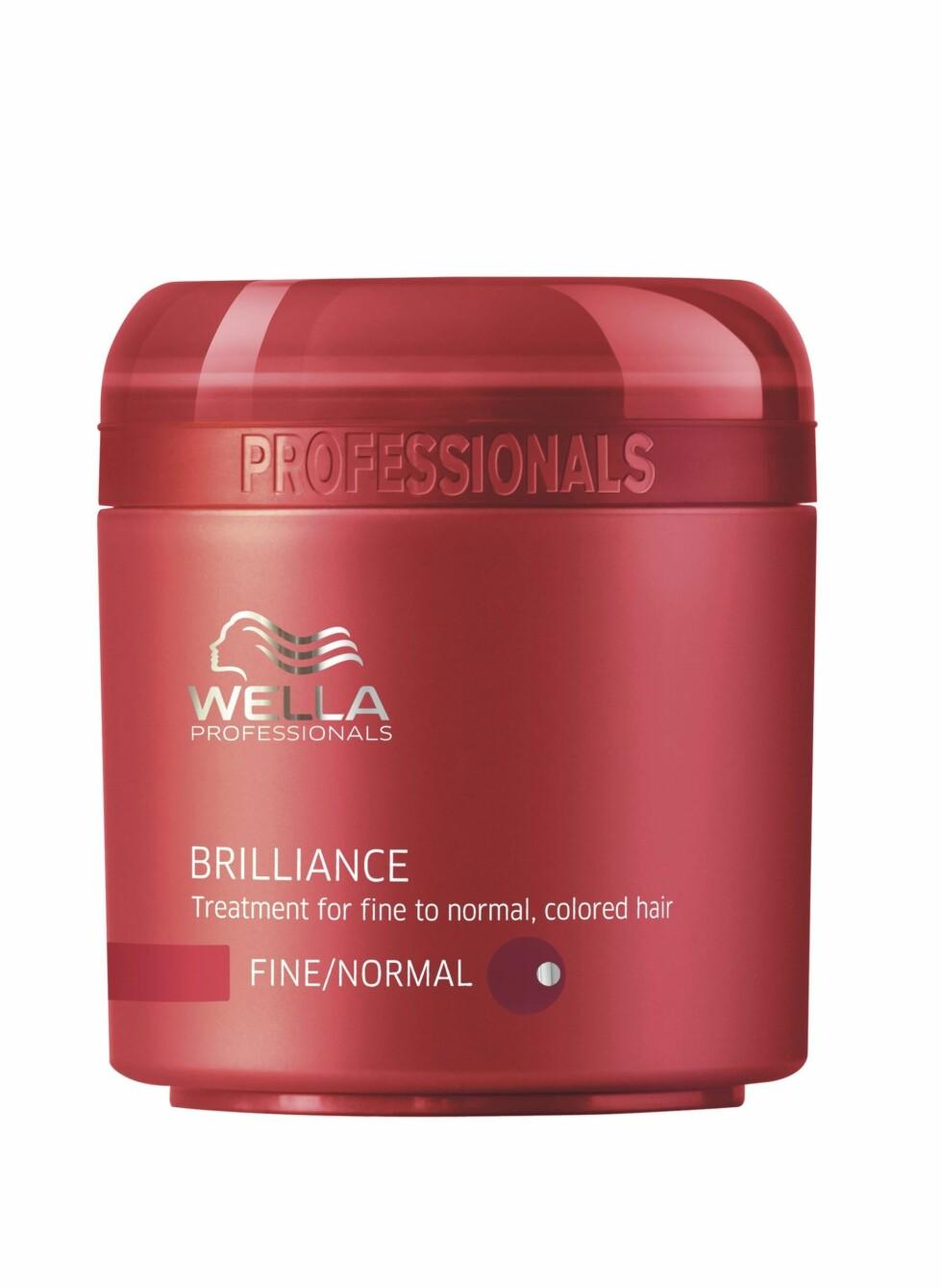 Brilliance hårkur for fint til normalt, farget hår, fra Wella Professionals Care, veil. kr 225. Finnes også for grovt hår.  Foto: Produsenten