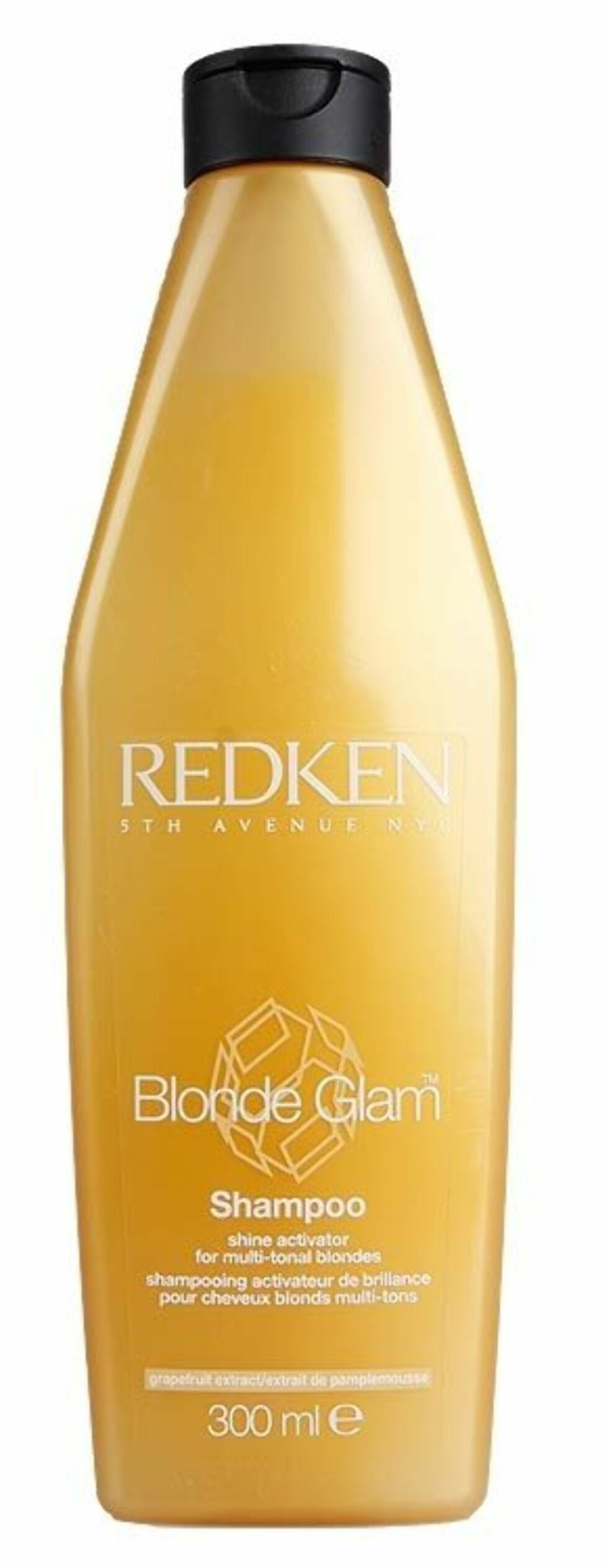 Redken Blonde Glam Shampoo gir ekstra glans og pleie til blonde lokker, ca. kr 179. Foto: Produsenten