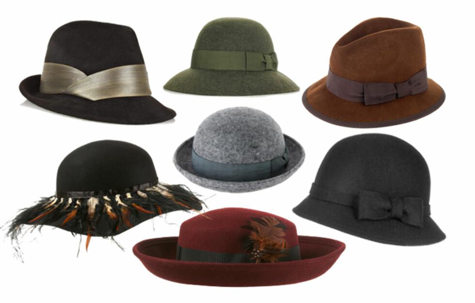 HØSTENS FARGER: Det er mange lekre hatter - hvis du tør å bruke dem, da. Mer info om priser og merker får du i bildeviseren under.  Foto: Produsentene