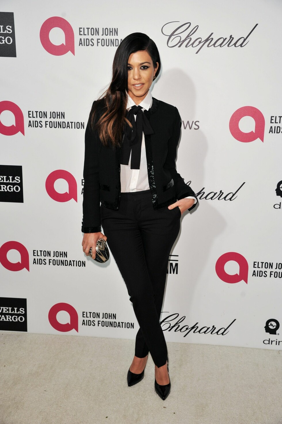 West Hollywood 2014-03-03 Kourtney Kardashian arrives at 2014 Elton John Oscar Viewing and After Party Mar. 2, 2014 in West Hollywood, Calif. (Photo by Richard Shotwell/Invision/AP) Photo: Richard Shotwell / INVISION / TT / kod 10612 ***BETALBILD*** Foto: INVISION
