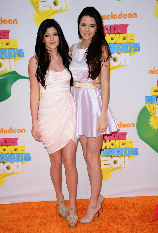 2011: Kylie Jenner og Kendall Jenner Foto: Pa Photos