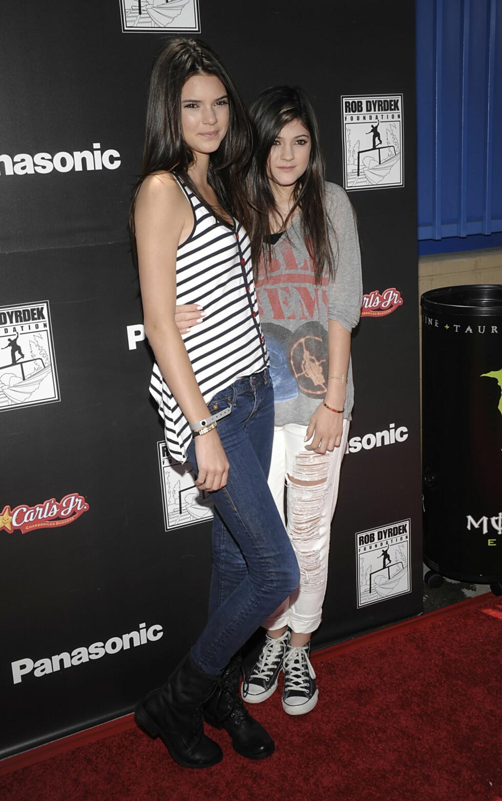 2010: Kylie Jenner og Kendall Jenner Foto: Ap