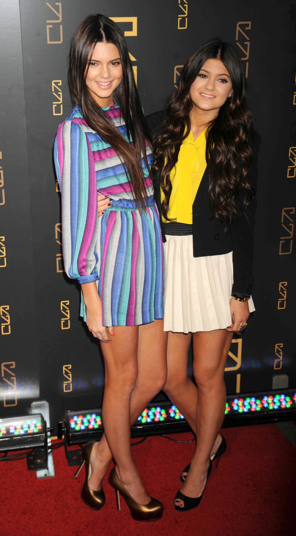 2012: Kylie Jenner og Kendall Jenner Foto: Pa Photos