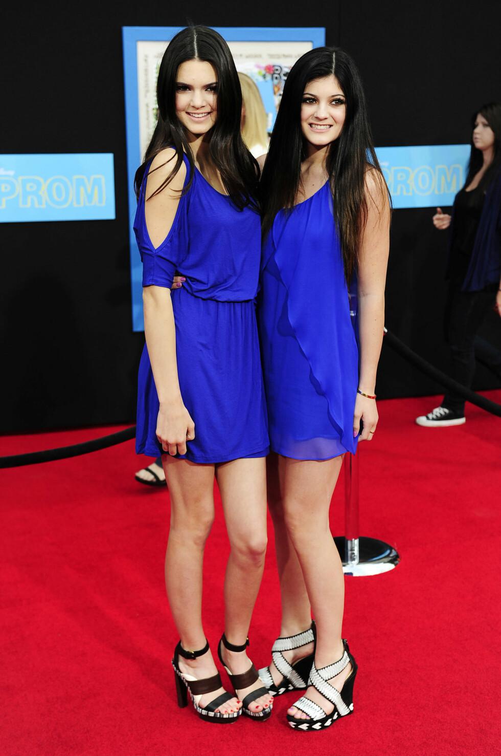 2011: Kendall Jenner og Kylie Jenner Foto: Afp