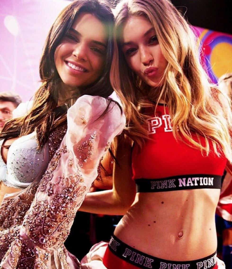 2015: Kendall Jenner og Gigi Hadid Foto: Xposure