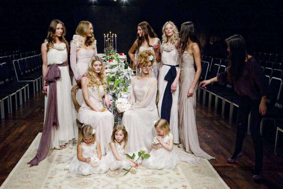 BRUDEBILDE: Et utvalg av Leila Hafzi's vakre brudekjoler. Foto: Per Ervland