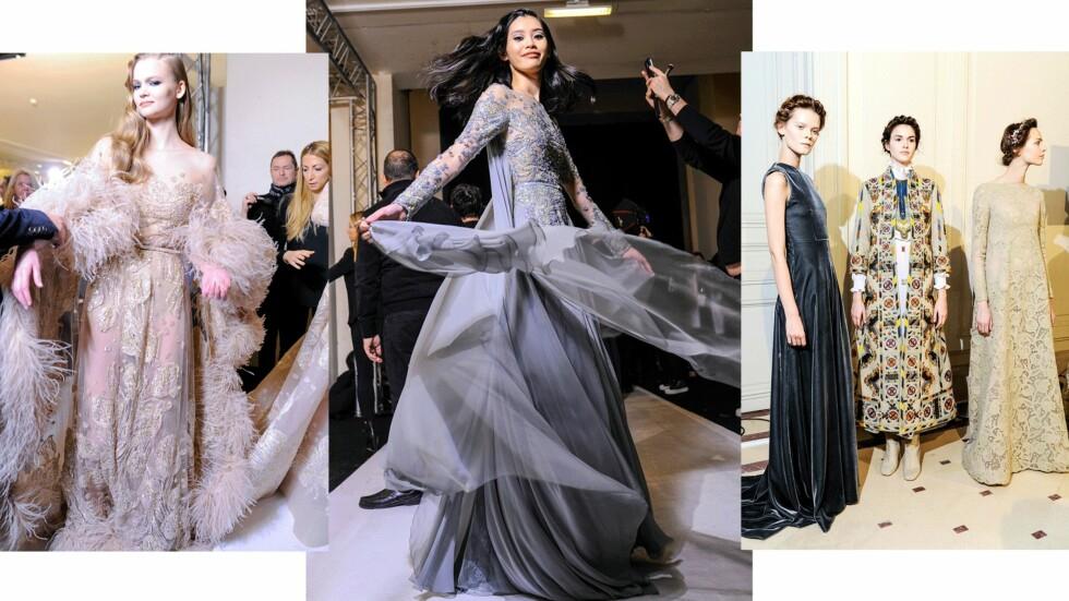 DYRE ANTREKK: Kjoler som disse kan koste flere hundretusen dollar. Foto: Scanpix