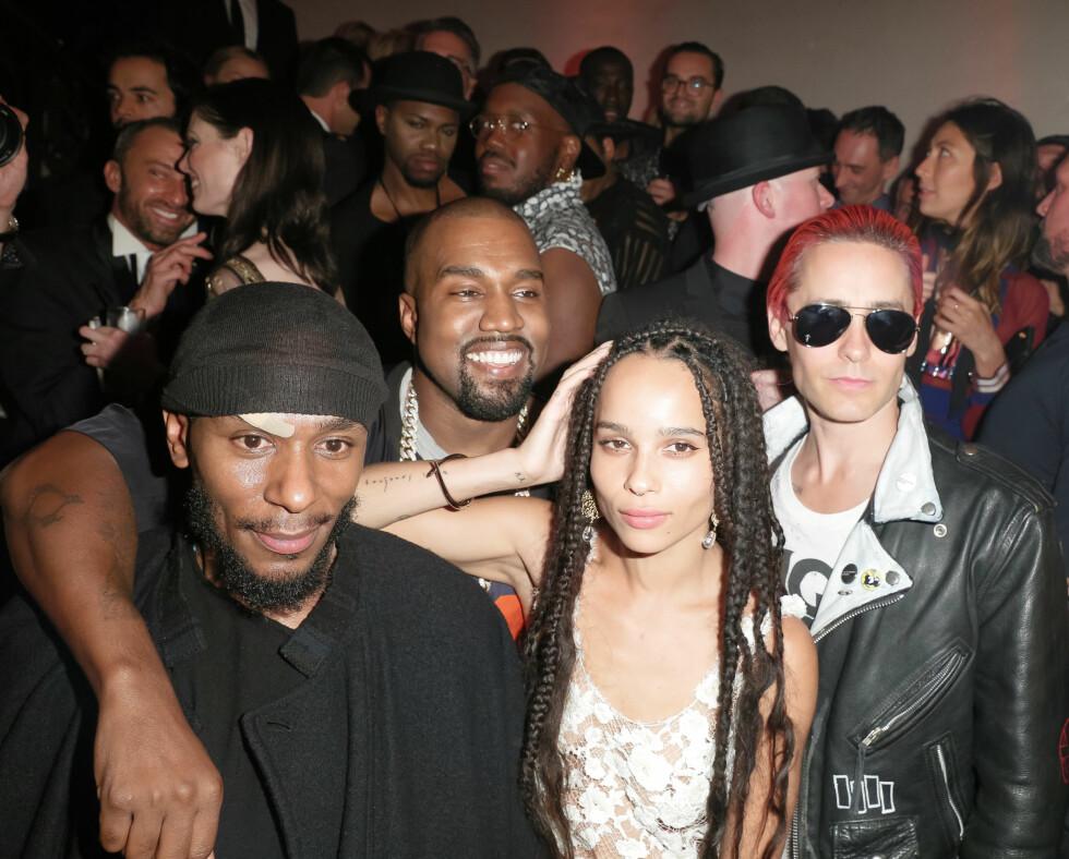 <strong>VOGUE:</strong> Yasiin Bey (41), Kanye West (38), Zoe Kravitz (26) og Jared Leto (43). Foto: SipaUSA