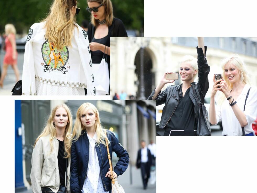 <strong>STREETSTYLE:</strong> Disse jakkene brukte it-jentene under Fashion Week. Foto: Scanpix