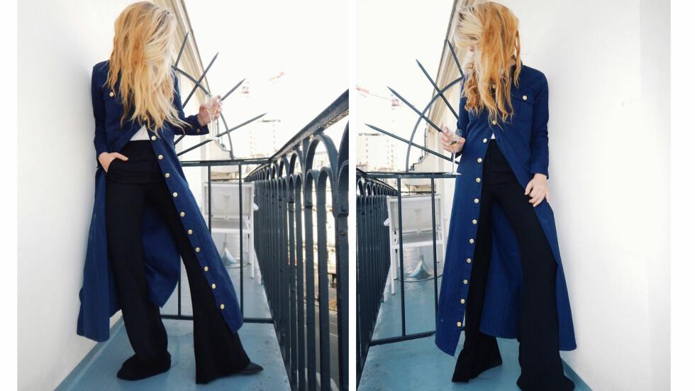 DAGENS BLOGGSTIL: STYLEmag-blogger og moteredaktør Nathalie Helgerud bruker kler seg i antrekk som forlenger kroppen!  Foto: Nathaliehelgerud.com