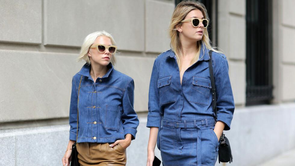 GATEMOTEN: Denim- på-denim har også blitt en stor trend blant street style-jentene.  Foto: All Over Press