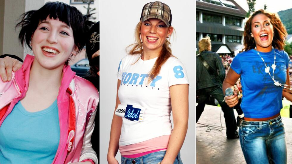 SJEKK STILEN - 10 ÅR ETTER: Margaret Berger, Gabrielle Leithaug og Tone Damli har alle forandret stilen sin radikalt siden disse bildene ble tatt på midten av 2000-tallet. Foto: All Over Press