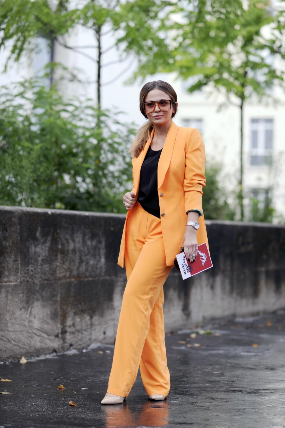 APPELSIN: Orange is the new black? For en flott farge! Foto: REX/Wayne Tippetts/All Over Press