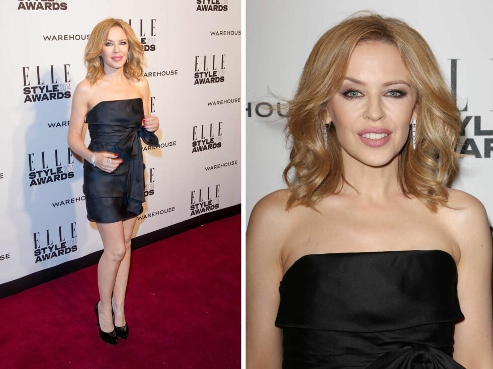 FLOTT:  45 år gamle Kylie Minogue ser like smashing ut nå, som da hun slo gjennom for flere tiår siden.  Foto: All Over Press