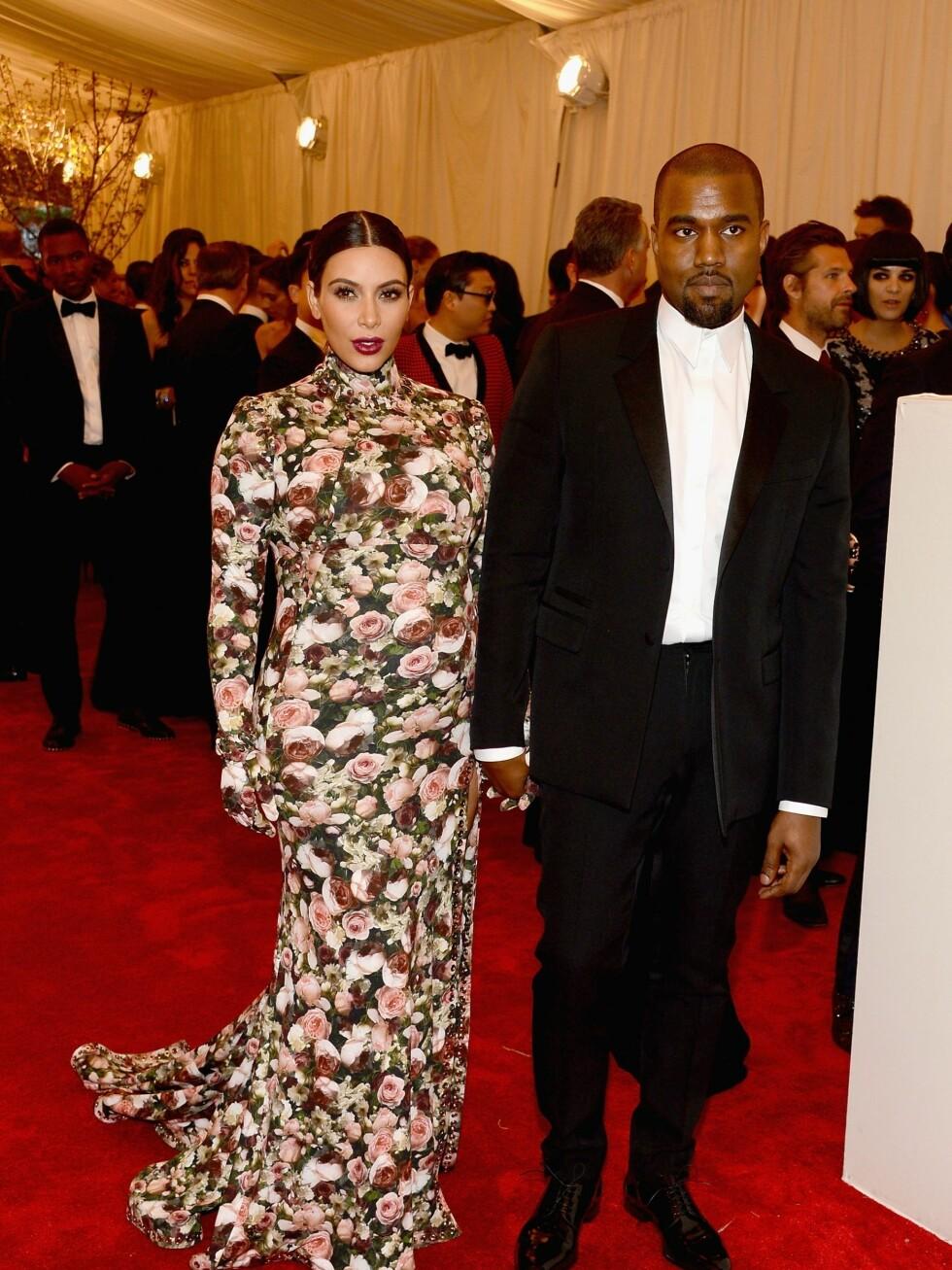 Kim Kardashian og Kanye West Foto: All Over Press