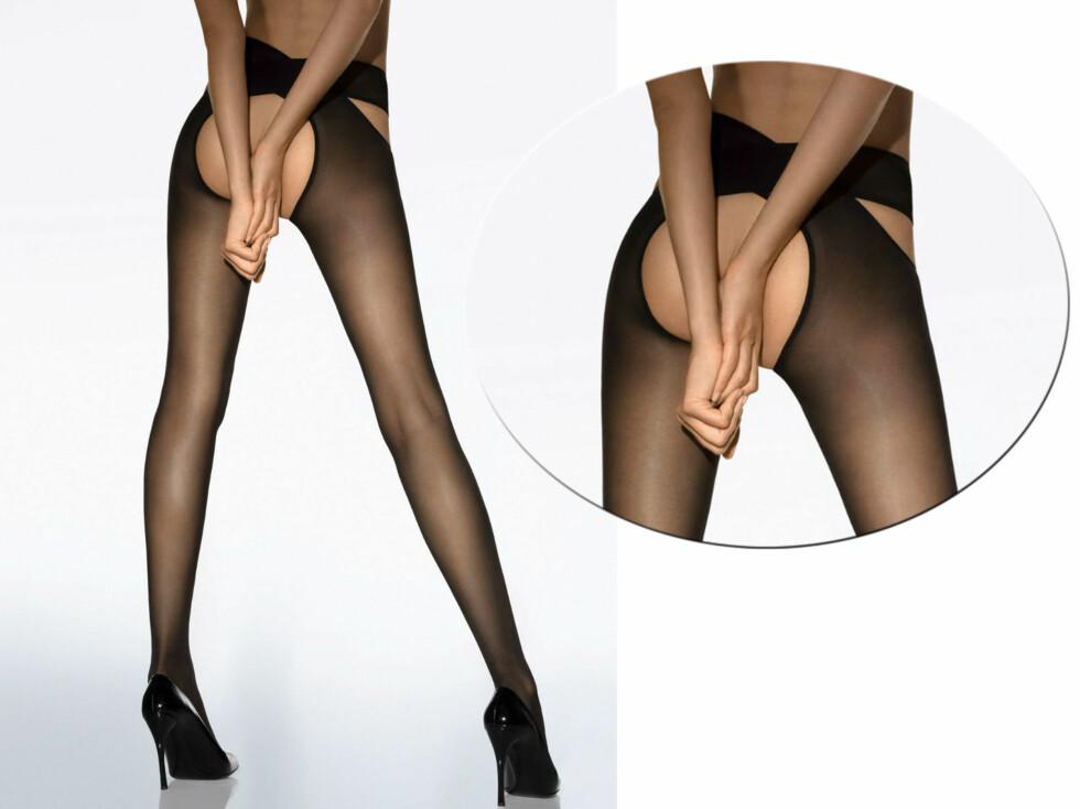 RUMPA BAR: Stay hip er en matt strømpebukse som har kombinert stay-up. Du kan ha strømpebuksekanten på hoften eller på magen, noe som også gjør den ideell for gravide kvinner.  Foto: Wolford