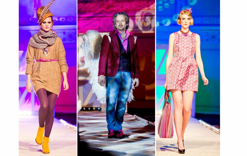 I ENGLEDRAKT: Ari Behn åpnet Moods-showet mandag kveld - i Moods-klær med englevinger. Se flere bilder lenger nede i saken! Foto: Sara Johannessen