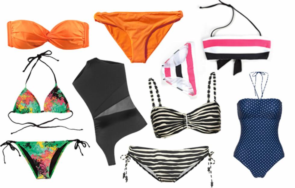 NOE FOR ENHVER: Årets badetøy kommer i mange forskjellige stiler og modeller. Mer info, priser og mer badetøy ser du i bildeviseren under. Foto: Produsentene