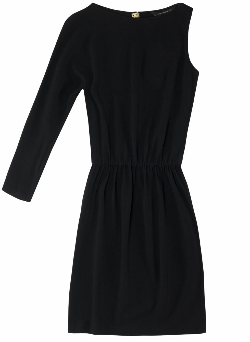 Sort one shoulder-kjole (Kr.599) Foto: Zara
