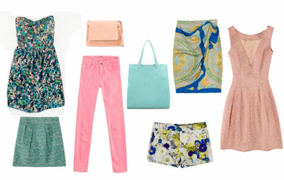 FEMININT OG FRISKT: Vår-og sommernyhetene til Zara består av plagg og tilbehør i i pasteller og mønstre, og er ikke full så knallfarget som hos mange andre kjeder.Se flere nyheter, samt priser lenger ned i saken.   Foto: Zara