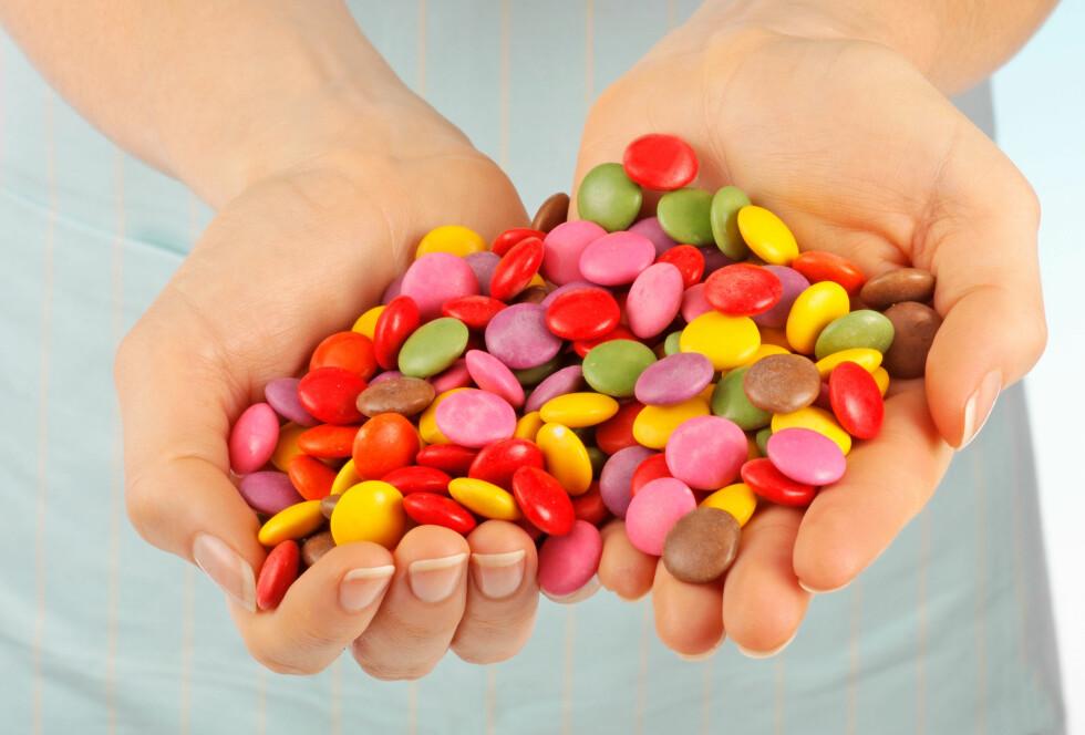 GODTERI HVER DAG: Det sier seg selv, spiser du godteri hver dag, kan du ikke spise store mengdene før det vil synes på vekta. Gradvis kan det igjen føre til livsstilssykdommer.  Foto: All Over Press
