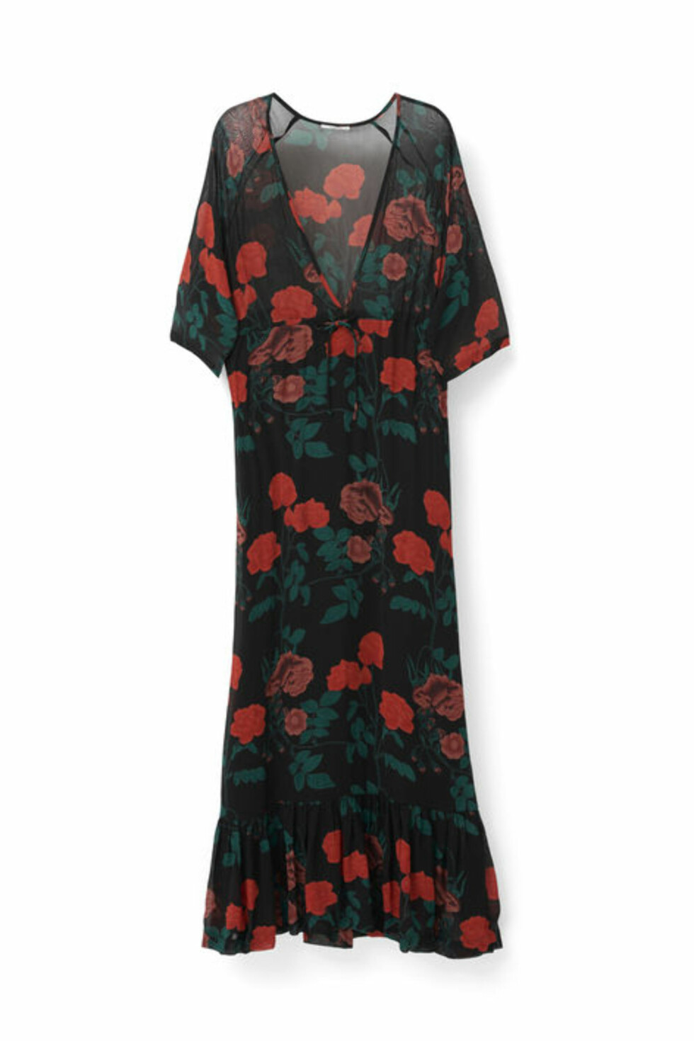 Kjole fra Ganni | kr 1469 | http://www.ganni.com/shop/dresses/newman-georgette-maxi-dress/F1660.html?dwvar_F1660_color=Black