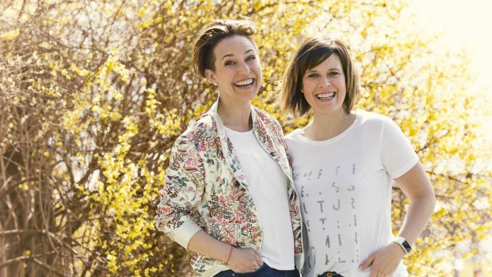 ENDRE LIVSSTIL: Janne (til venstre) og Hilde hadde litt ulik motivasjon for å ta tak i livet sitt, men felles for dem begge er at de skal løpe KK-mila.   Foto: Astrid Waller