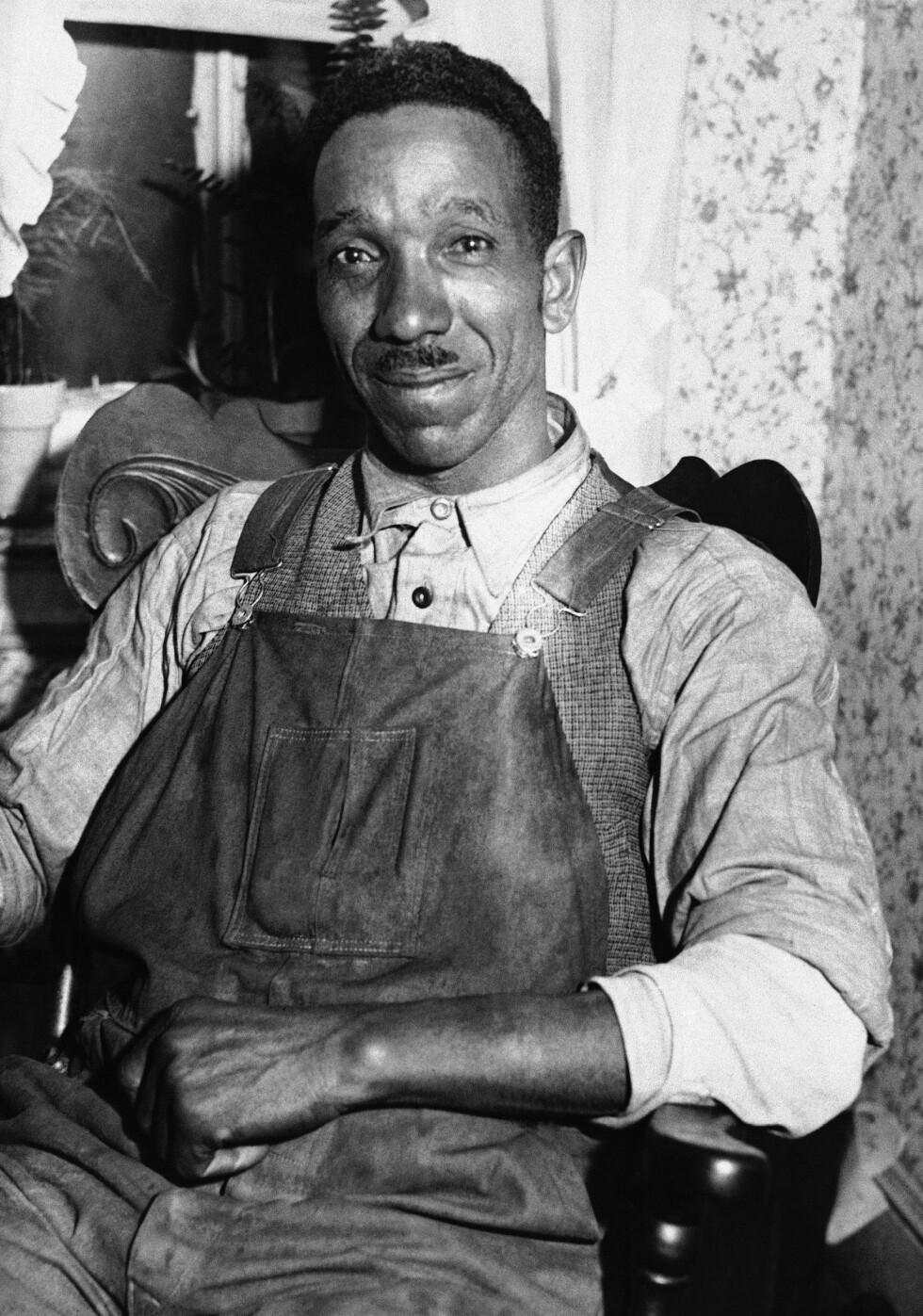 FANT BABYEN: Det var lastebilsjåfør William Allen som fant liket av den 20 måneder gamle babyen 12. mai 1932. Babyen ble funnet ved Mount Rose, New Jersey. Foto: NTB Scanpix
