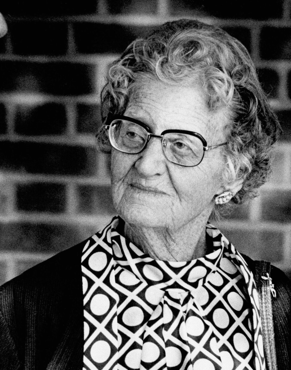 ENKEN: Anna Hauptmann kjempet hele livet for å renvaske ektemannen som ble henrettet i 1936. Hun døde i 1994, 95 år gammel. Dette bildet er tatt i 1985. Foto: NTB Scanpix