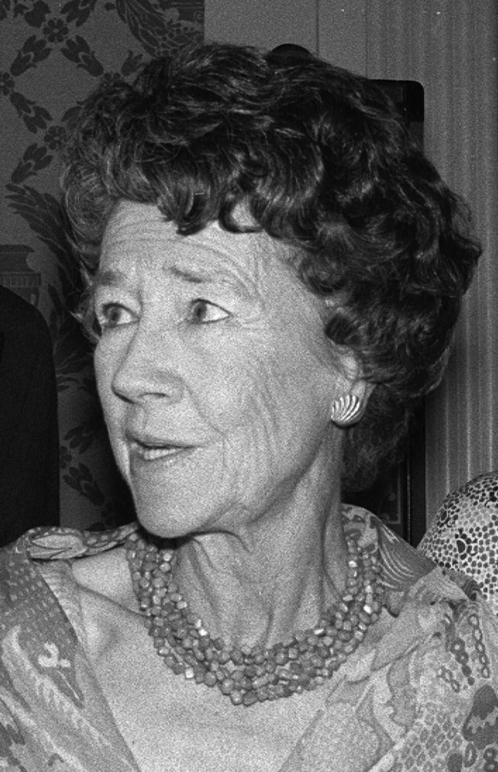 BLE 94 ÅR: Anne Morrow Lindbergh fotografert i New York i mai 1977. Hun døde i 2001, hun ble 94 år gammel. Foto: NTB Scanpix