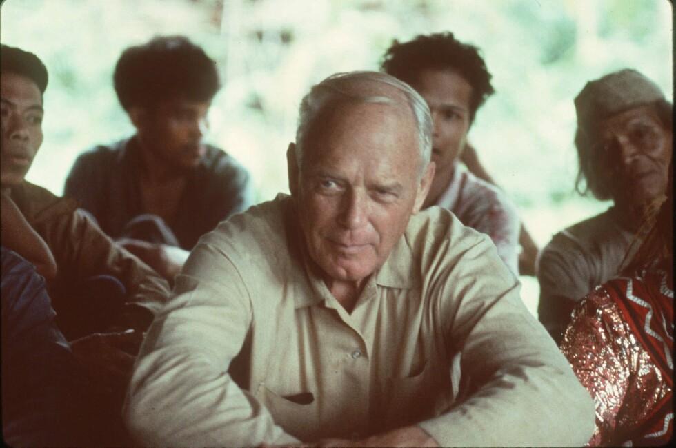 BLE 72 ÅR: Charles Lindbergh fotografert på Filippinene i 1970. Han døde på Hawaii i 1974. Foto: NTB Scanpix