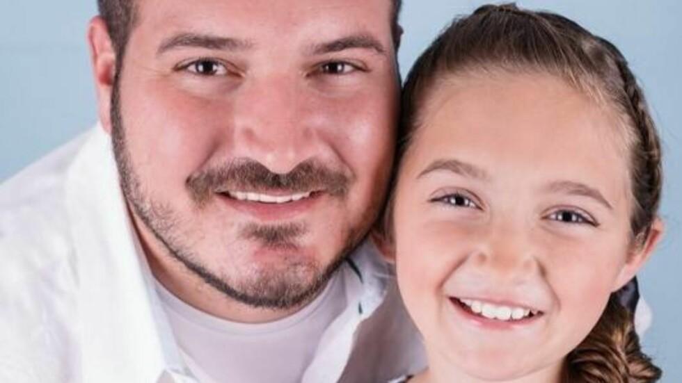 HÅR: Til KK.no forteller Phil at hår-stylingen har skapt et helt spesielt bånd mellom han og datteren Emma (10).  Foto: Privat