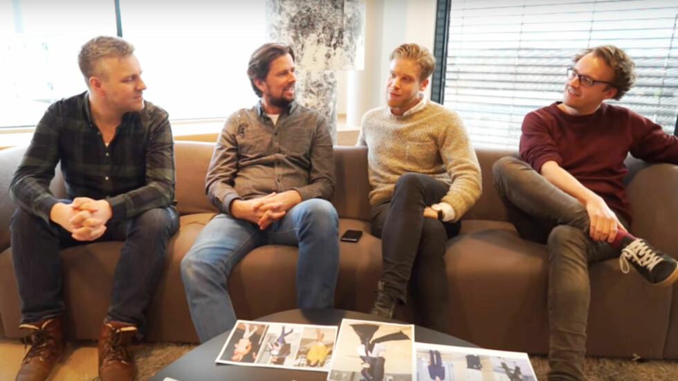 MENN OM: I videoen du kan se øverst i saken har vi blant annet snakket med Amund, Even, Steinar og Ole Petter om sminkebruk, kort hår vs. langt hår og skjønnhetspress. Foto: Per Ervland (VIDEO)
