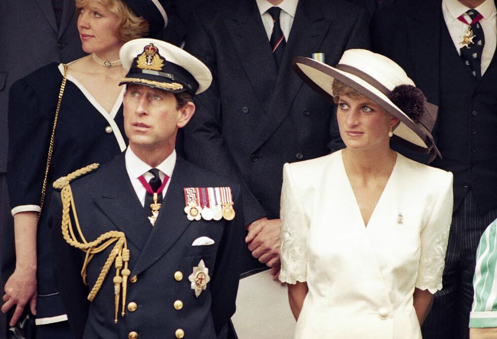 DEN GANG DA: Prins Charles og prinsesse Diana fotografert i 1991. De to inngikk ekteskap i 1981. Skilsmissen var et faktum i 1996. Foto: NTB Scanpix