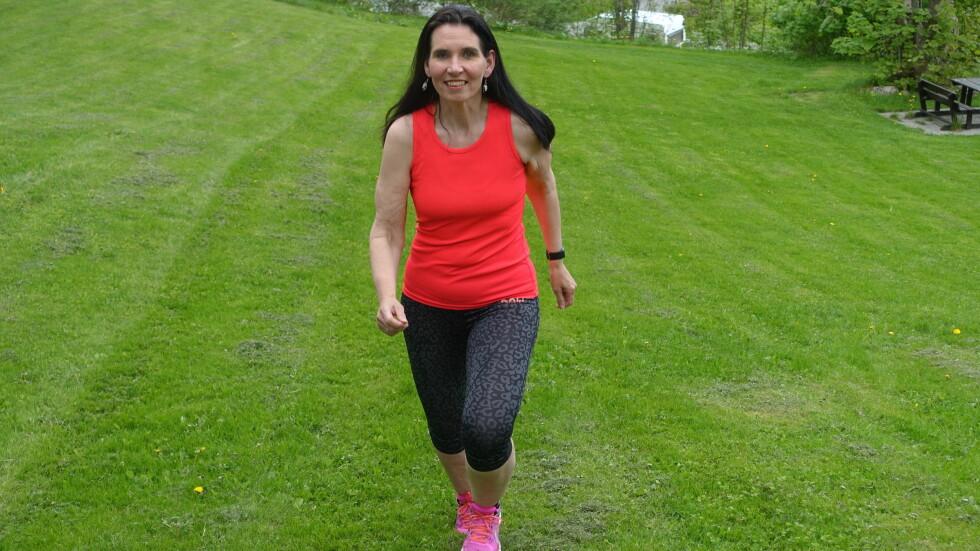 NED I VEKT: Sissel Eide la om livsstilen i 2013. 50 kilo senere vet hun at enkle grep er det som fungerer best. Foto: Privat