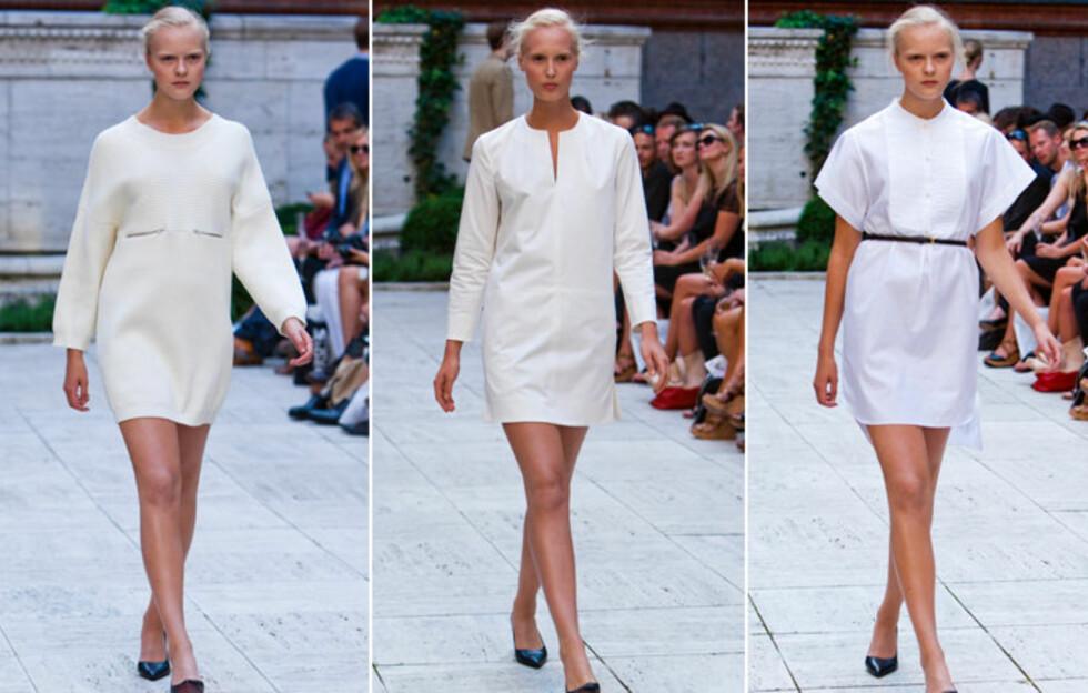 HVITE KJOLER ANNO 2012: Danske Bruuns Bazaar har stor tro på den lille hvite til neste år. Foto: Per Ervland