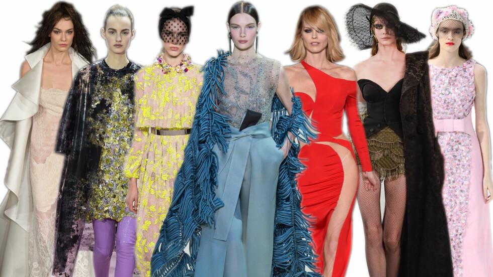 SHOWENE ER I GANG: Haute Couture-visningene er i gang. Sjekk trendene! Foto: All Over Press