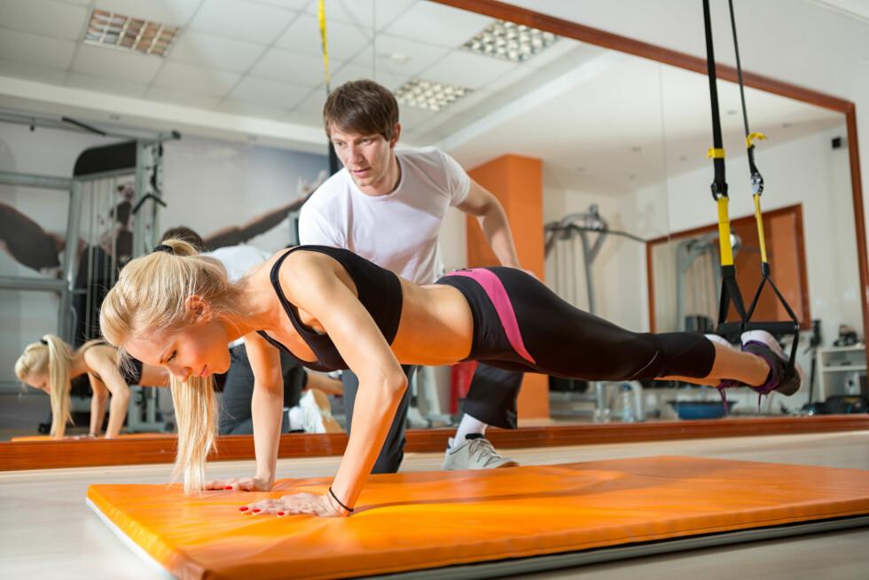 KJENN VEIEN TIL MÅLET: Sett deg nøye inn i hva du må gjøre for å nå målene dine - og det handler ikke kun om å trene den muskelgruppen du ønsker å definere eller styrke. Også generell trening for hele kroppen og fokus på kosthold er svært viktig. Foto: NTB Scanpix