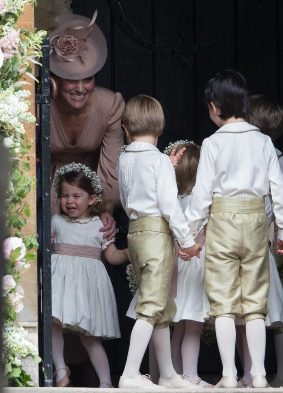 Pippa Middleton giftet seg med James Matthews i St Mark's Church. Prinsesse Charlotte var blant bryllupets brudepiker   Foto: Shutterstock